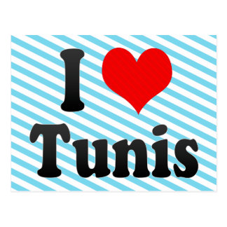 I Love Tunis, Tunisia Postcard