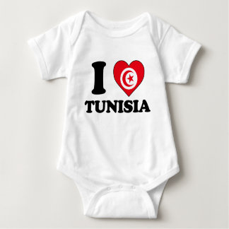 I love Tunisia Baby Bodysuit