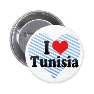 I Love Tunisia Button