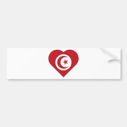 I Love Tunisia Car Bumper Sticker