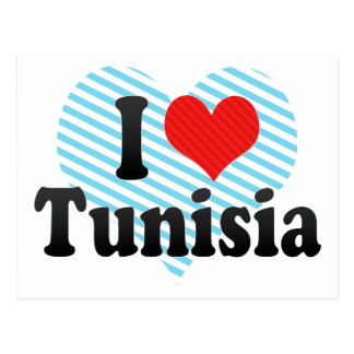 I Love Tunisia Postcard
