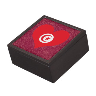 I Love Tunisia Premium Keepsake Box