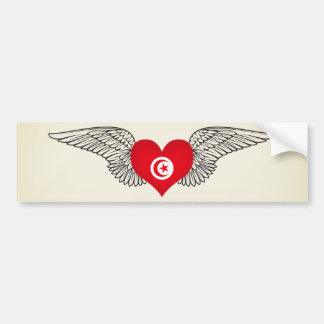 I Love Tunisia -wings Bumper Sticker