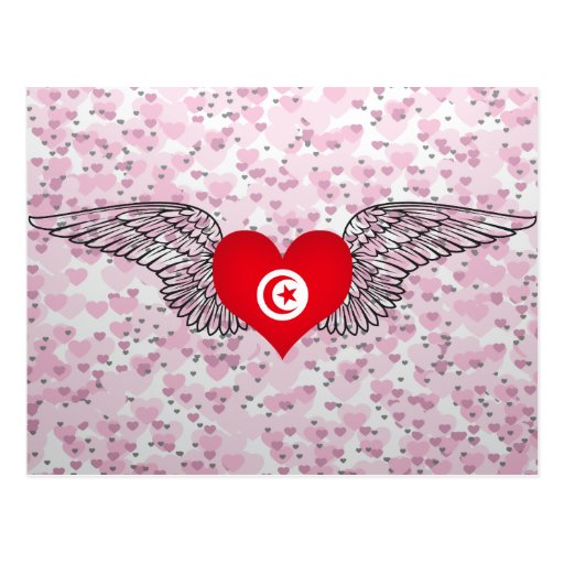 I Love Tunisia -wings Postcards