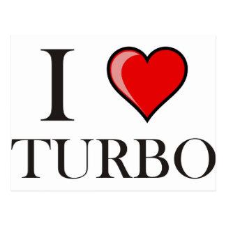 I Love Turbo Postcard