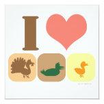 I Love Turducken! 5.25x5.25 Square Paper Invitation Card