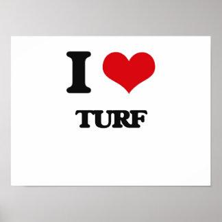 I love Turf Poster