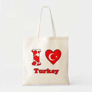 I love Turkey Tote Bags