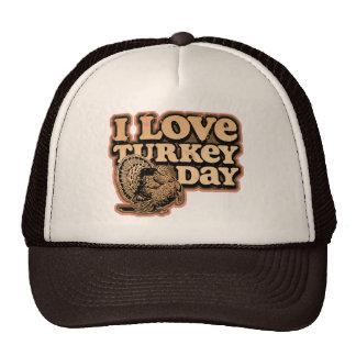 I Love Turkey Day Trucker Cap Mesh Hats