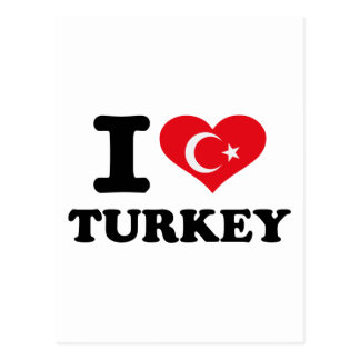 I love Turkey flag Postcard