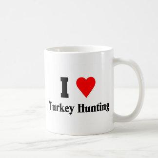 I love Turkey Hunting Classic White Coffee Mug