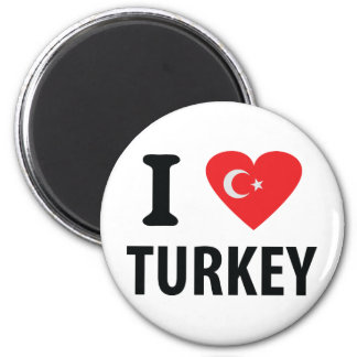 I love turkey icon 2 inch round magnet