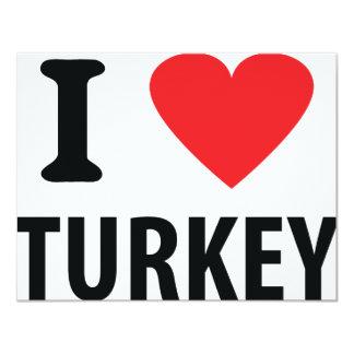 I love turkey 4.25x5.5 paper invitation card