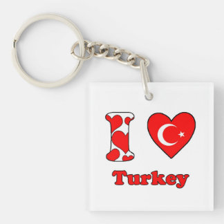 I love Turkey Keychain