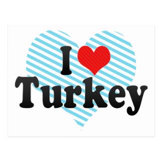 I Love Turkey Postcard