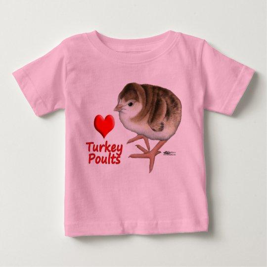 I Love Turkey Poults! Baby T-Shirt
