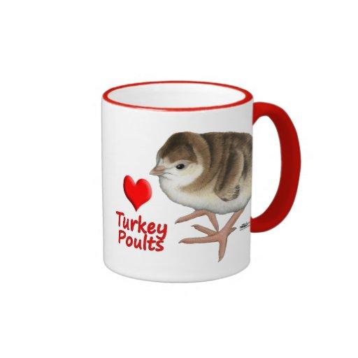 I Love Turkey Poults! Mug