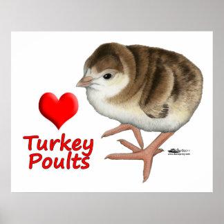 I Love Turkey Poults! Print