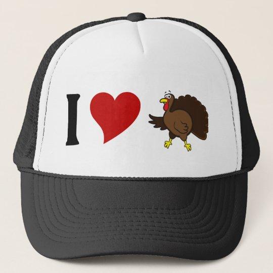 a27208c8f0b91 I Love Turkey Trucker Hat