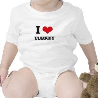 I Love Turkey Baby Bodysuits