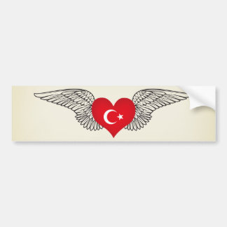 I Love Turkey -wings Bumper Sticker