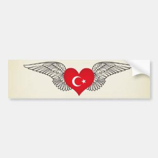 I Love Turkey -wings Bumper Sticker