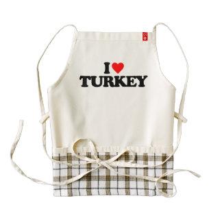 I LOVE TURKEY ZAZZLE HEART APRON