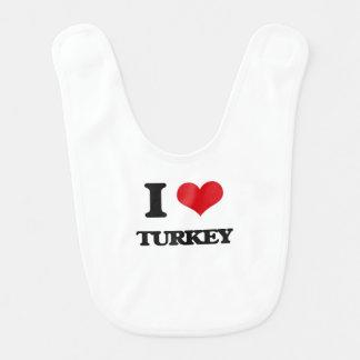 I Love Turkey Bibs