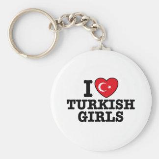 I Love Turkish Girls Basic Round Button Keychain