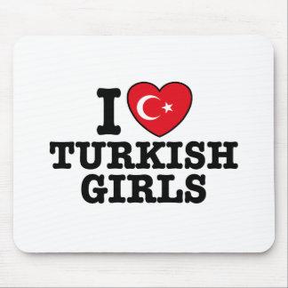 I Love Turkish Girls Mouse Pad