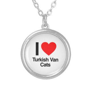 i love turkish van cats round pendant necklace