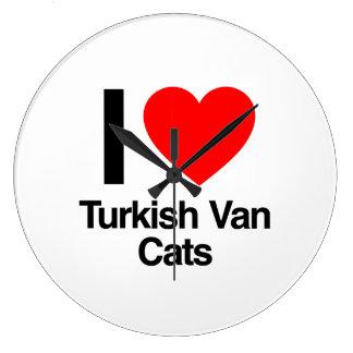 i love turkish van cats wallclock