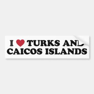 I Love Turks and Caicos Islands Bumper Sticker