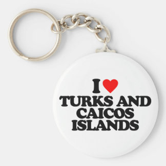 I LOVE TURKS AND CAICOS ISLANDS KEYCHAIN