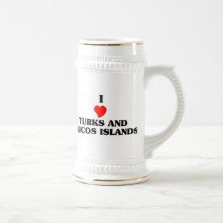 I Love Turks and Caicos Islands Coffee Mug