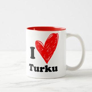 I love Turku Two-Tone Coffee Mug