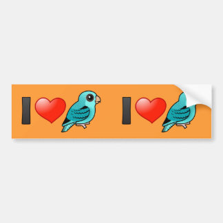 I Love Turquoise Linnies Bumper Stickers