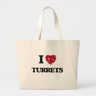 I love Turrets Jumbo Tote Bag