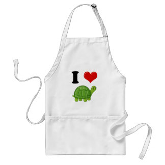 I Love Turtles Adult Apron