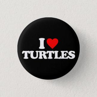 I LOVE TURTLES BUTTON