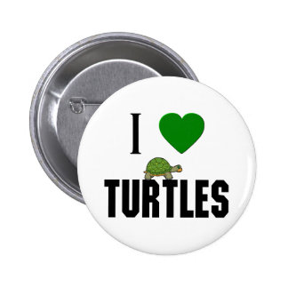 I Love Turtles Pins