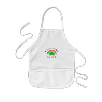 I love turtles deal withit kids' apron