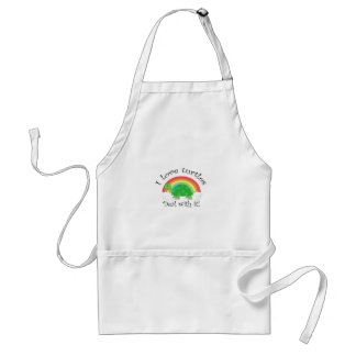 I love turtles deal withit adult apron