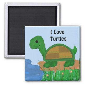 I Love Turtles Design Magnet