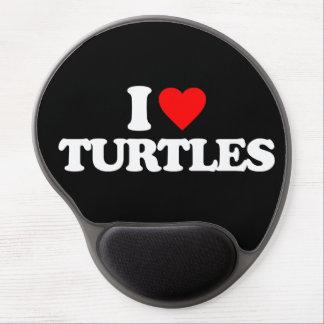 I LOVE TURTLES GEL MOUSE PAD