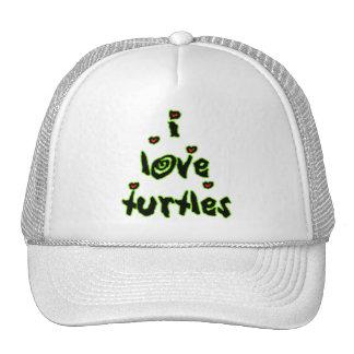 I Love Turtles Trucker Hat