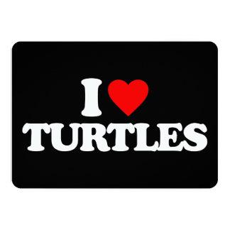 "I LOVE TURTLES 5"" X 7"" INVITATION CARD"