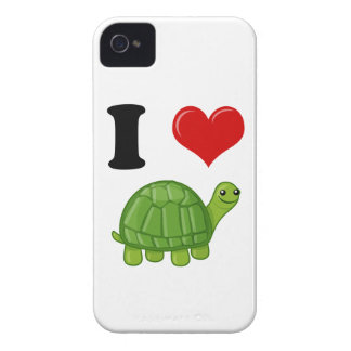 I Love Turtles iPhone 4 Case