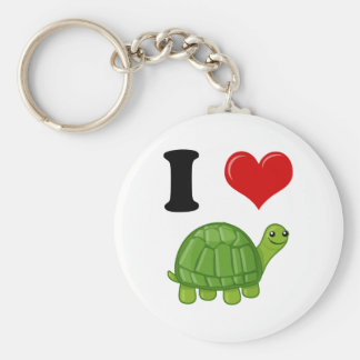 I Love Turtles Key Chain