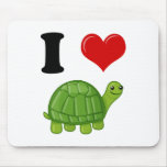 I Love Turtles Mouse Pad